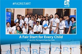 A Fair to Start for Every Child Campaign with Ambassador Ms. Priyanka Chopra by UNICEF held on 5th July 2016 at Imperial Hotel Delhi